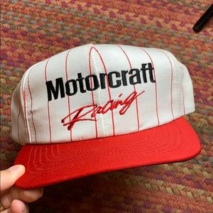 DEADSTOCK VINTAGE RED STRIPED RACING HAT